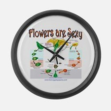 Flowers are Sexy Large Wall Clock