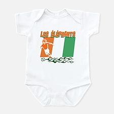 Ivorian Soccer Infant Bodysuit