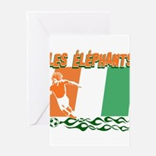 Ivorian Soccer Greeting Card
