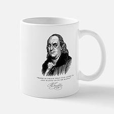 Ben Franklin Loves Beer Mug
