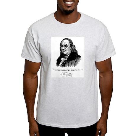 Ben Franklin Loves Beer Light T-Shirt