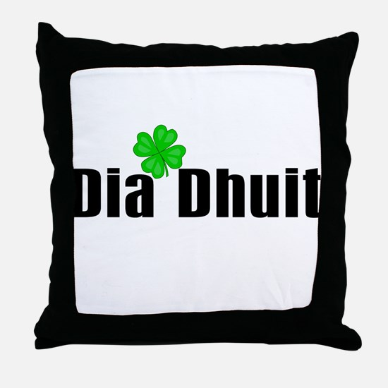 Hello (in Irish) Throw Pillow