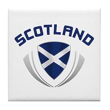 Soccer Crest SCOTLAND Tile Coaster