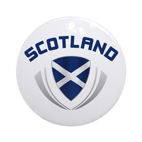 Soccer Crest SCOTLAND Ornament (Round)