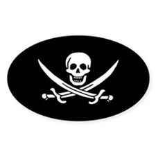 Calico Jack Jolly Roger Decal