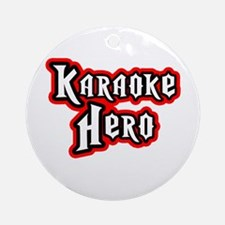 Karaoke Hero Ornament (Round)