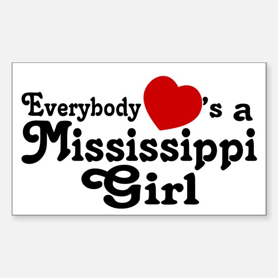 Everybody Hearts a MS Girl Sticker (Rectangle)