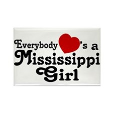 Everybody Hearts a MS Girl Rectangle Magnet
