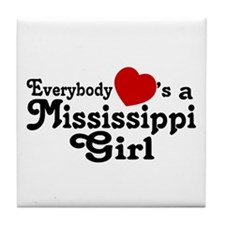 Everybody Hearts a MS Girl Tile Coaster