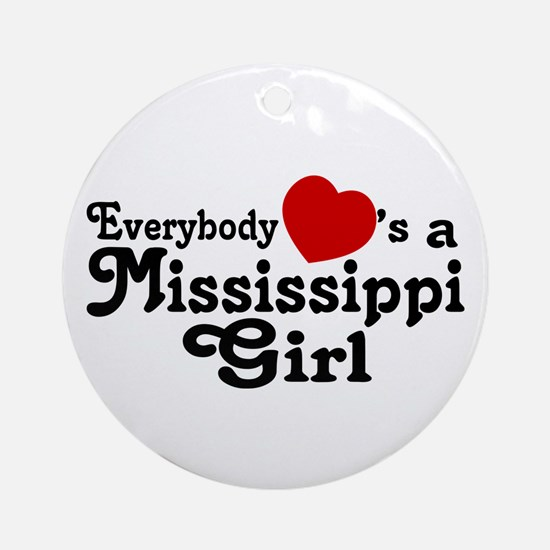 Everybody Hearts a MS Girl Ornament (Round)