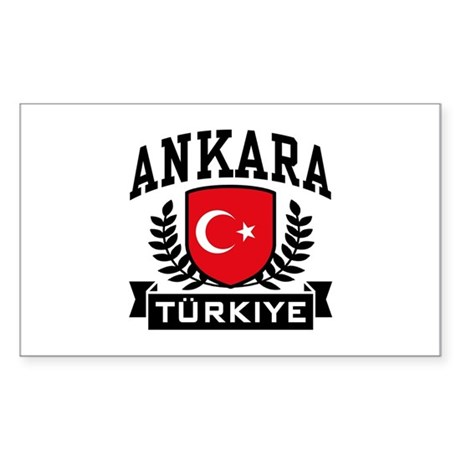 Ankara Turkiye Sticker (Rectangle)