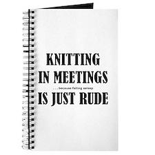 Knitting in Meetings Journal