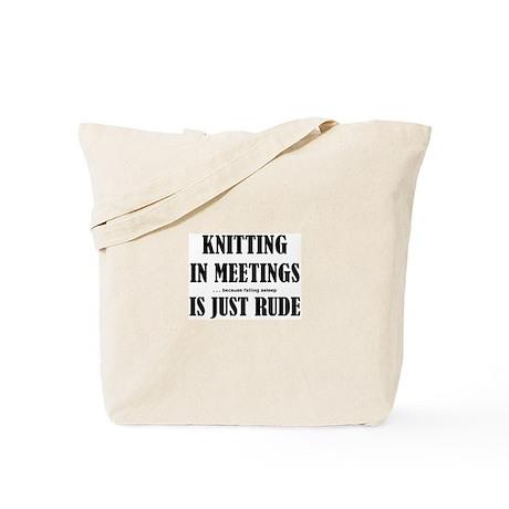 Knitting in Meetings Tote Bag