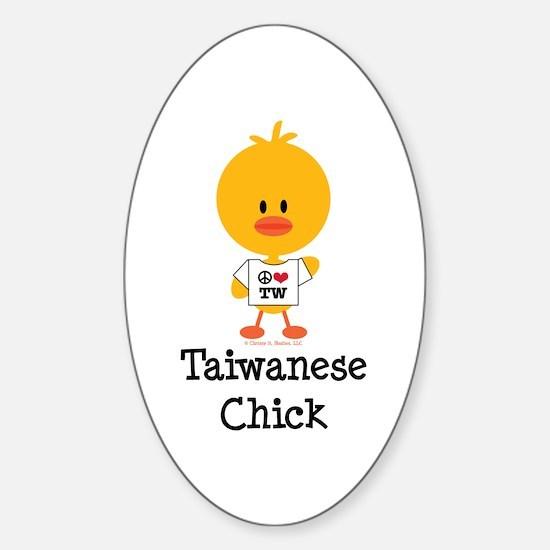 Taiwanese Chick Sticker (Oval)