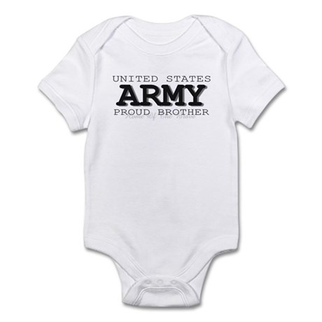 Proud Army Brother Infant Creeper
