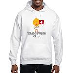 Team Swiss Chick Hooded Sweatshirt