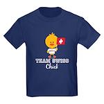 Team Swiss Chick Kids Dark T-Shirt