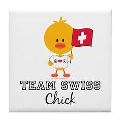 Team Swiss Chick Tile Coaster