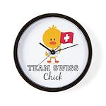 Team Swiss Chick Wall Clock