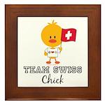 Team Swiss Chick Framed Tile