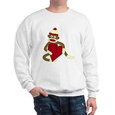 Sock Monkey Heart Sweatshirt