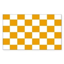 Orange Tennessee End Zone Decal
