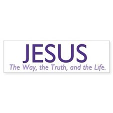 Jesus the Way Bumper Sticker