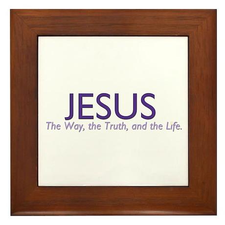 Jesus the Way Framed Tile