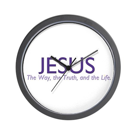 Jesus the Way Wall Clock