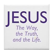 Jesus the Way Tile Coaster