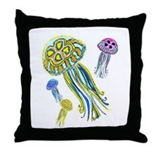 Jellyfish Group Throw Pillow