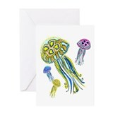 Jellyfish cards Greeting Cards