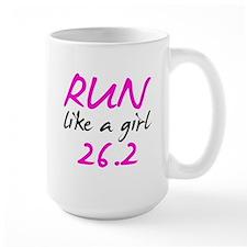 Run like a girl 26.2 Coffee Mug
