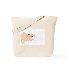 Pug Pulling Tote Bag