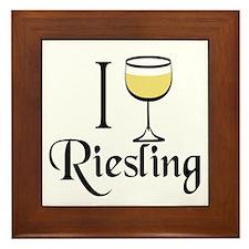 I Drink Riesling Wine Framed Tile
