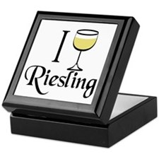 I Drink Riesling Wine Keepsake Box