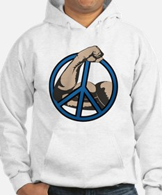 Funny Peace through strength Hoodie