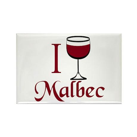 I Drink Malbec Wine Rectangle Magnet (10 pack)