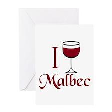 I Drink Malbec Wine Greeting Card