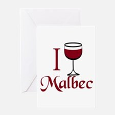 I Drink Malbec Wine Greeting Card