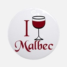 I Drink Malbec Wine Ornament (Round)