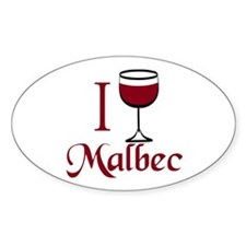 I Drink Malbec Wine Decal