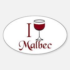 I Drink Malbec Wine Decal