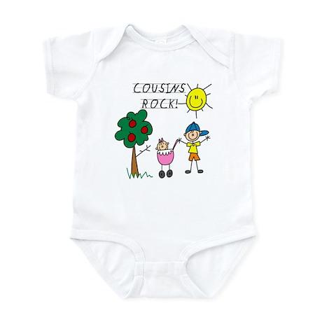 Cousins Rock One Infant Bodysuit