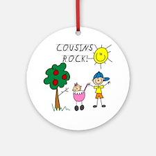 Cousins Rock One Ornament (Round)