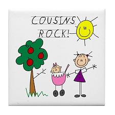 Cousins Rock Two Tile Coaster