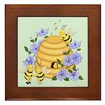 Honey Bee Dance Framed Tile