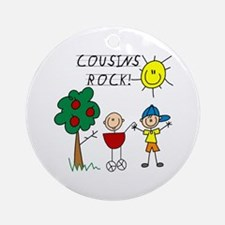 Cousins Rock Three Ornament (Round)