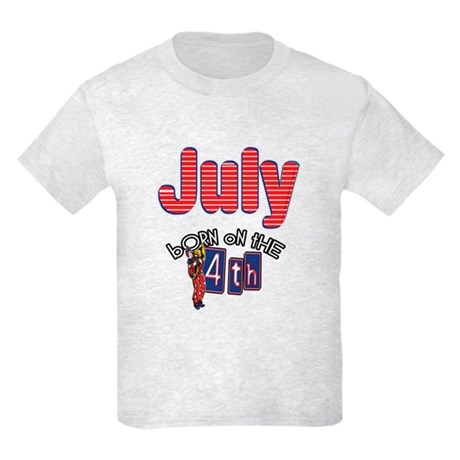 Born on the 4th of July Kids Light T-Shirt