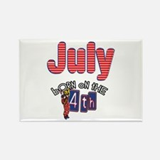 Born on the 4th of July Rectangle Magnet
